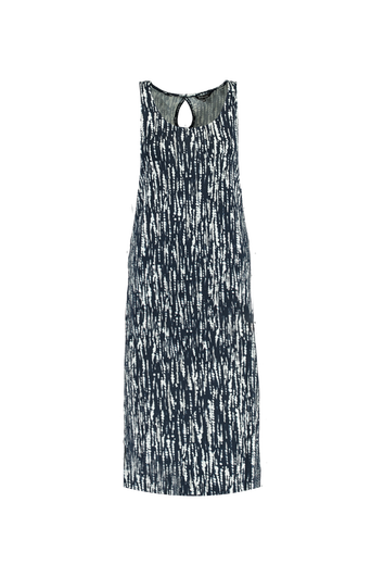 Robe longue avec une fente et des paillettes