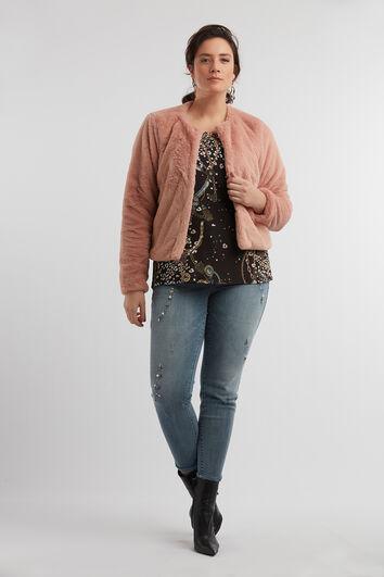Korte faux fur jas