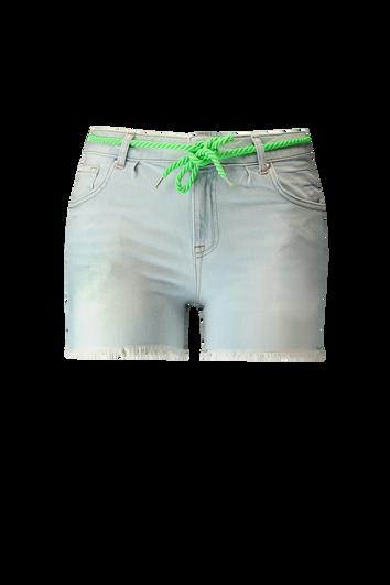 Shorts décolorés avec bords effilochés