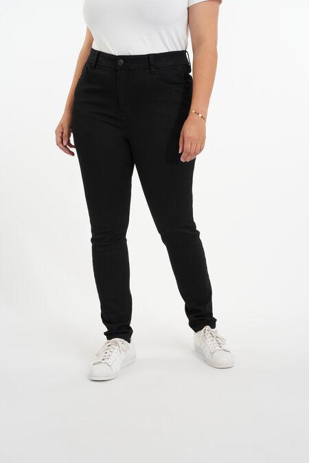 Skinny leg high waist jeans CHERRY