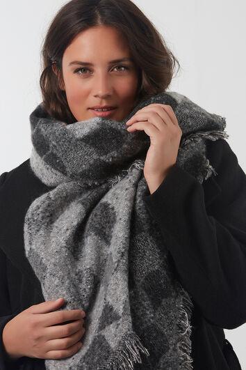Sjaal met zilver lurex