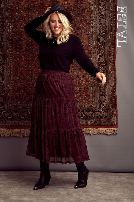 Lange rok met paisleyprint