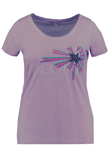T-shirt avec imprimé et paillettes