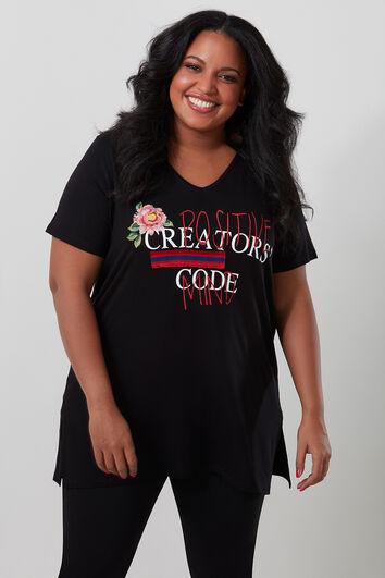 T-shirt avec imprimé 3D