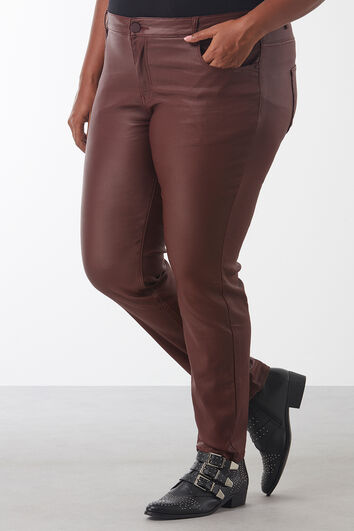 Pantalon slim enduit