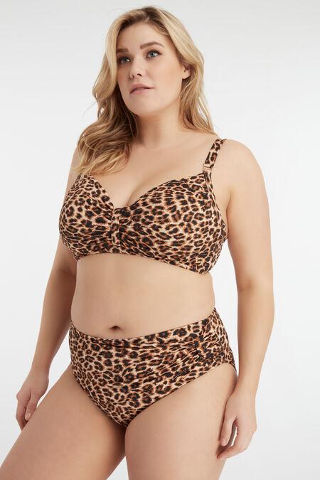 Bikini top met print