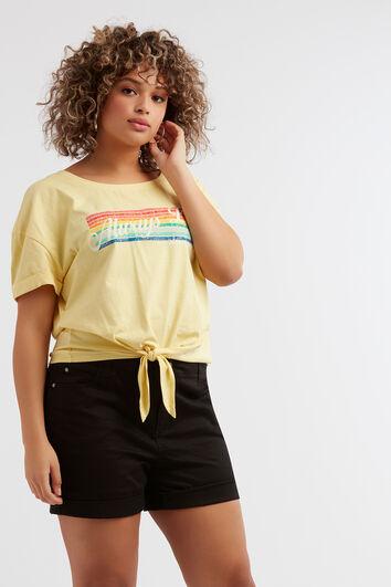T-shirt met regenboog print