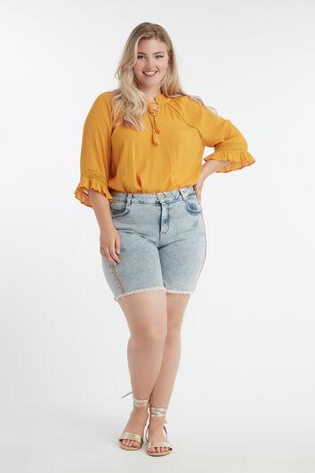 Short met oranje glitterbies