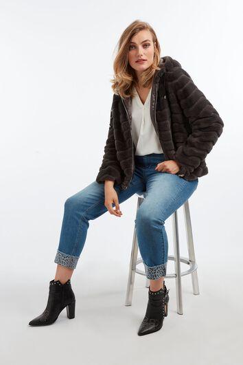 Fake fur jas