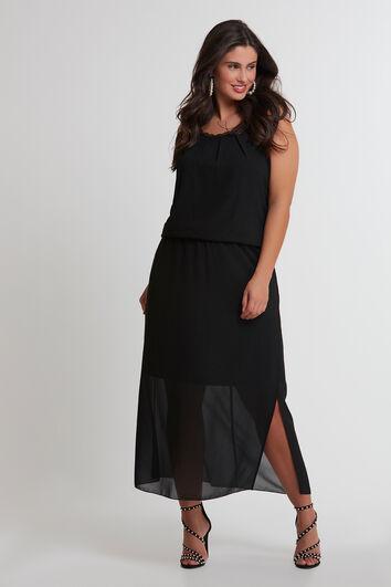 Maxi jurk met kanten details