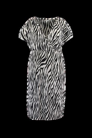 Plissé jurk met zebra print