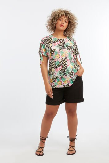 T-shirt met cold-shoulder