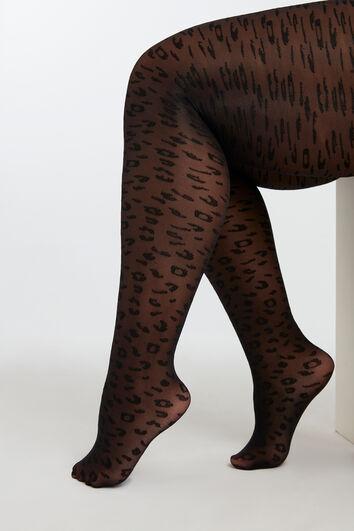 Collants imprimé léopard