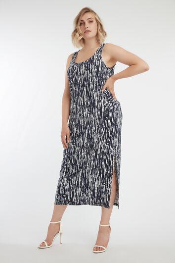 Maxi jurk met split en glitter