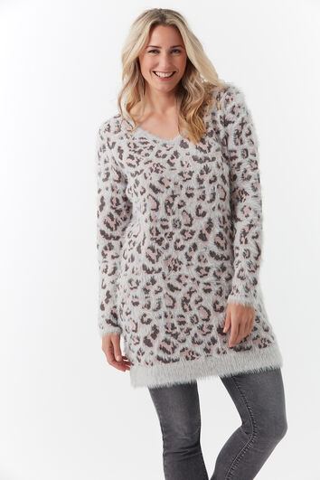 Pull-over long avec imprimé