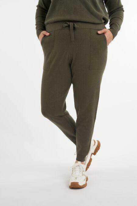 Fijngebreide comfy broek