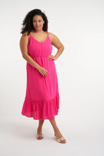Midi jurk met strikbandjes