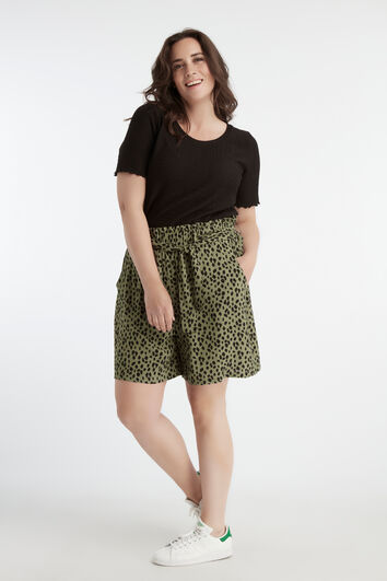 Viscose short met print