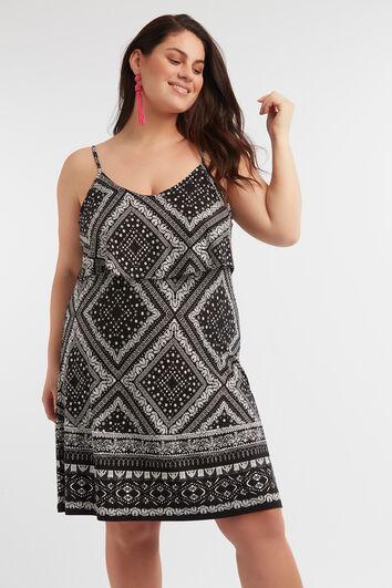 Mouwloze jurk met print