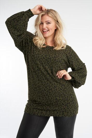 Lange sweater met print