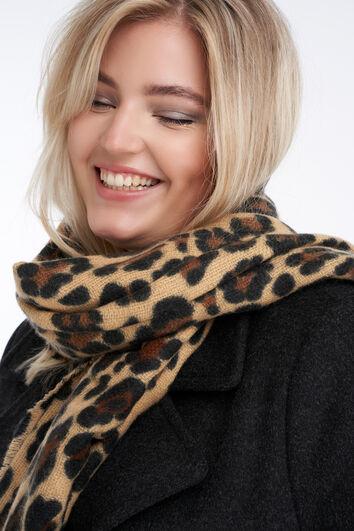 Sjaal met luipaard print