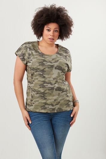 T-shirt avec imprimé camouflage