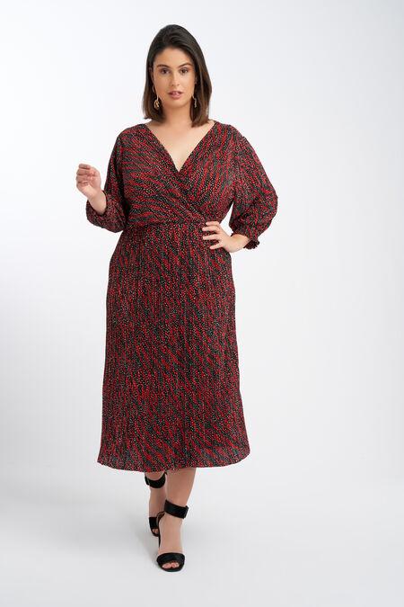 Lange plisse jurk
