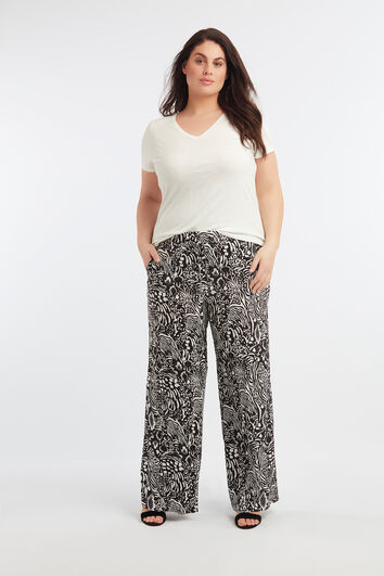 Wijdvallende broek met all-over print