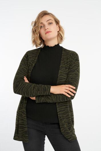Vest met zebraprint