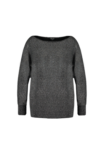 Pull-over en Lurex noir