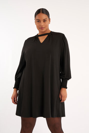 Korte jurk met A-lijn