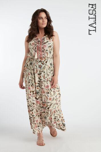 Lange bohemian jurk met print