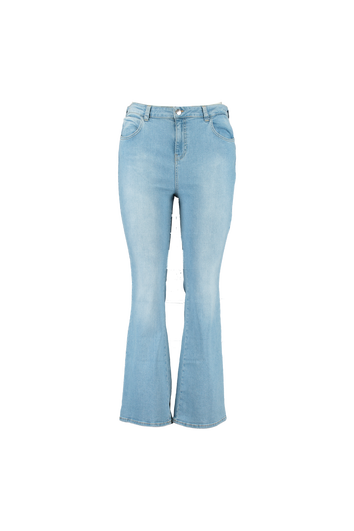 Flared leg high waist jeans