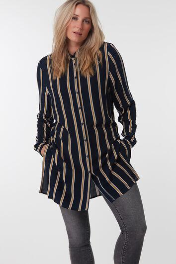 Lange gestreepte blouse