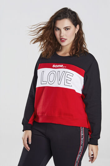 Sweat-shirt some,… avec texte imprimé