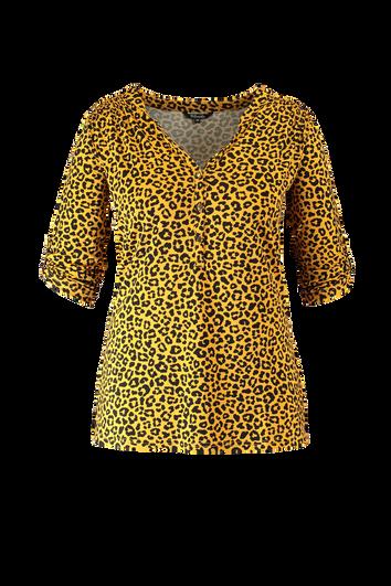 Top met luipaardprint
