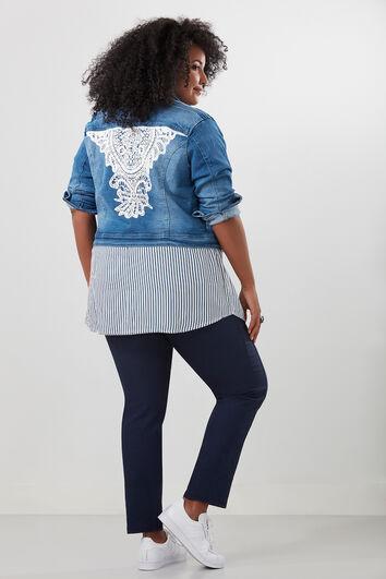 Jeansvest met kant