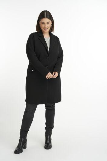Long manteau en jersey