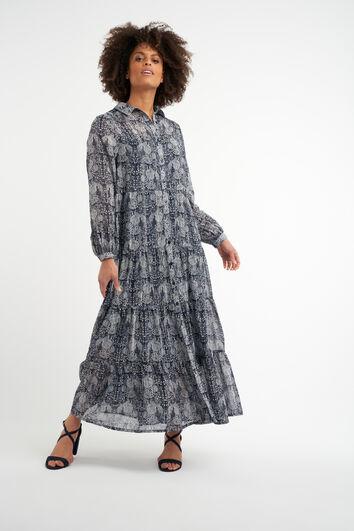 Robe longue à imprimé floral