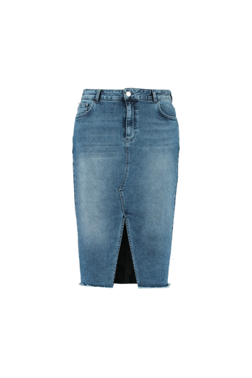 Denim rok met split