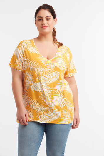 Basic T-shirt met print