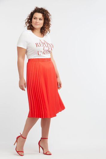T-shirt avec inscription et strass