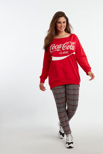 Sweater met Coca-Cola print