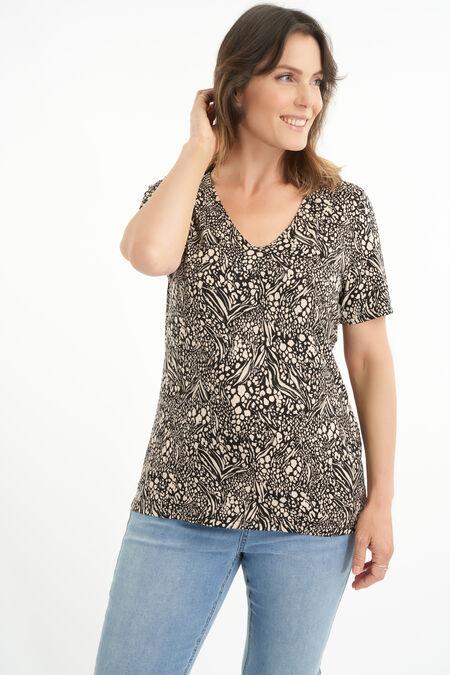 T-shirt met V-hals